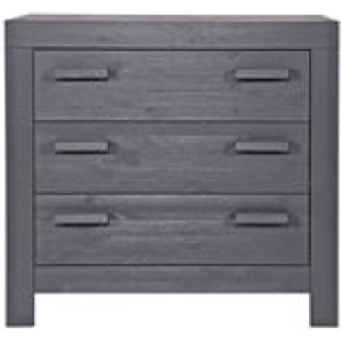 New Life Chest Of Drawers In Brushed Steel Grey By W...