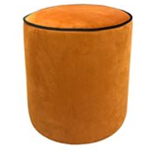 Culinary Concepts Piper Velvet Stool With Piping - E...