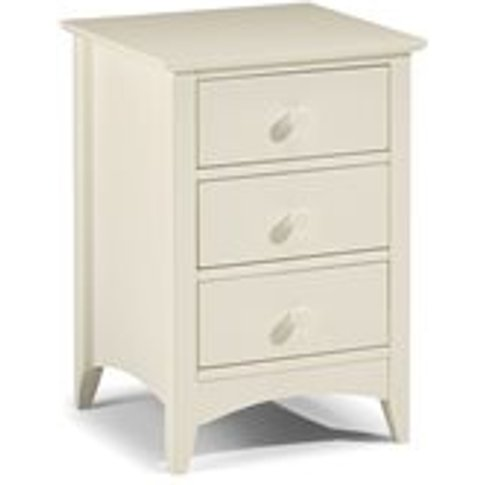 Julian Bowen Cameo 3 Drawer Bedside Cabinet In Stone...