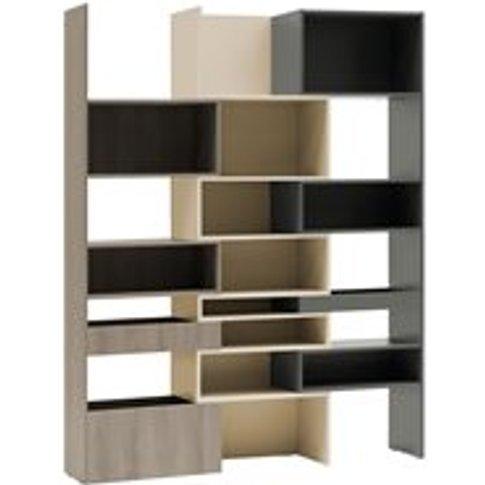 Vox Lori Concertina Bookcase In Graphite, Cashmere &...