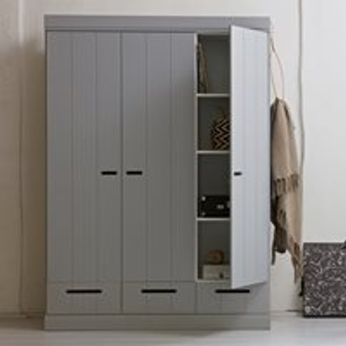 Connect Contemporary 3 Door Wardrobe With Storage In...