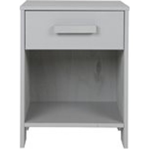 Dennis Bedside Table with Drawer in Concrete Grey by...