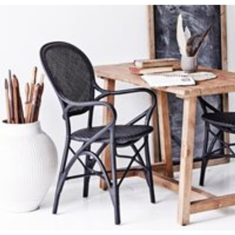 Sika Stackable Rattan Rossini Dining Chair In Black