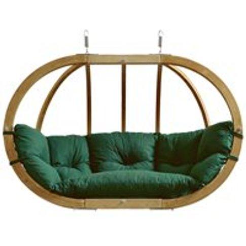 Globo Royal Garden Hanging Chair in Weatherproof Green