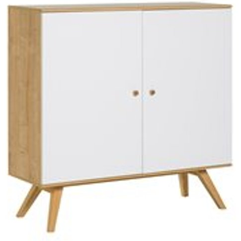 Vox Nature Large Wooden Sideboard in White & Oak Effect