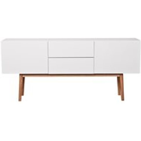 Zuiver High On Wood 2 Drawer & 2 Door Sideboard In W...