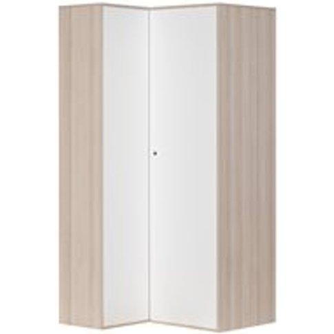 Vox Spot Corner Wardrobe in Acacia & White