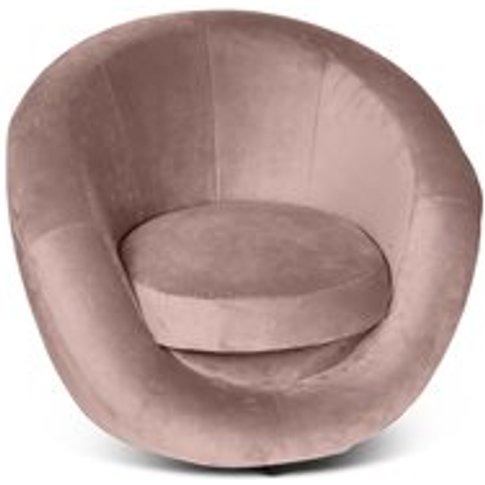 Culinary Concepts Leo Velvet Armchair - Burnt Orange