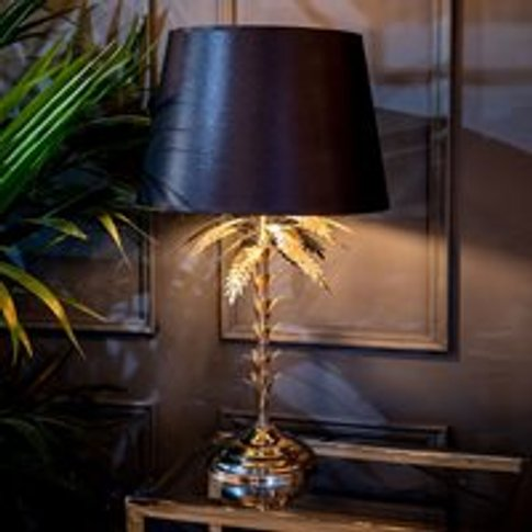 Culinary Concepts Palm Tree Table Lamp - Black and Gold
