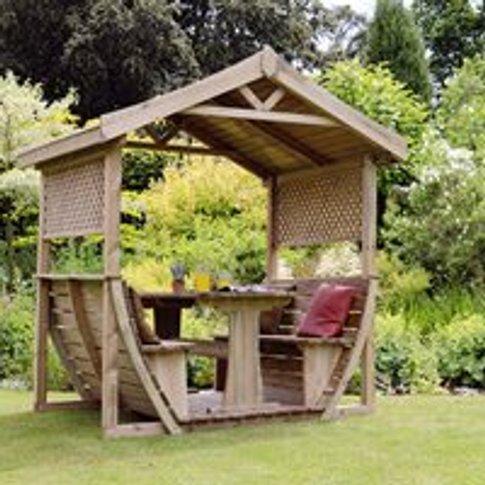 Woodland Arbour Table and Benches Set