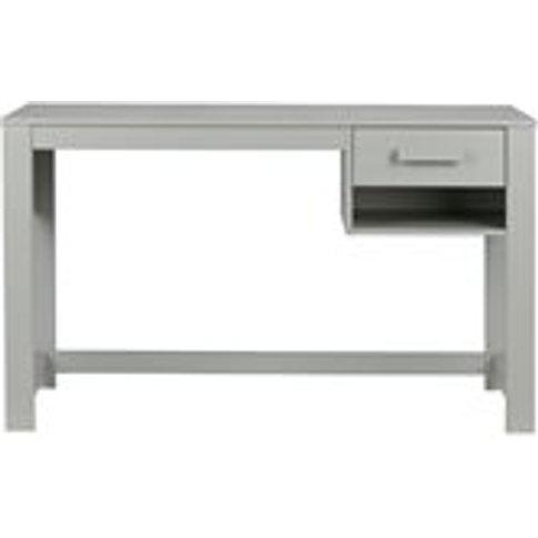 Dennis Junior Computer Desk In Concrete Grey By Woood