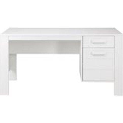 Dennis Computer & Office Desk In White By Woood