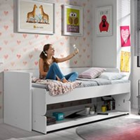 Denver 2 In 1 Desk & Day Bed In White