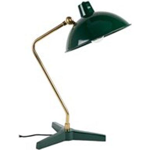 Dutchbone Devi Vintage Desk Lamp in Gloss Green