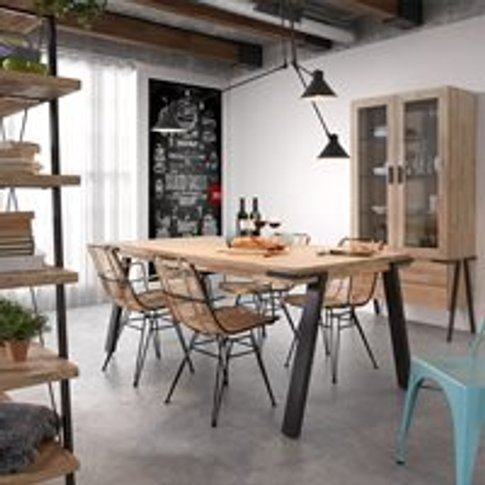 Disset Solid Acacia Wood Dining Table - Small