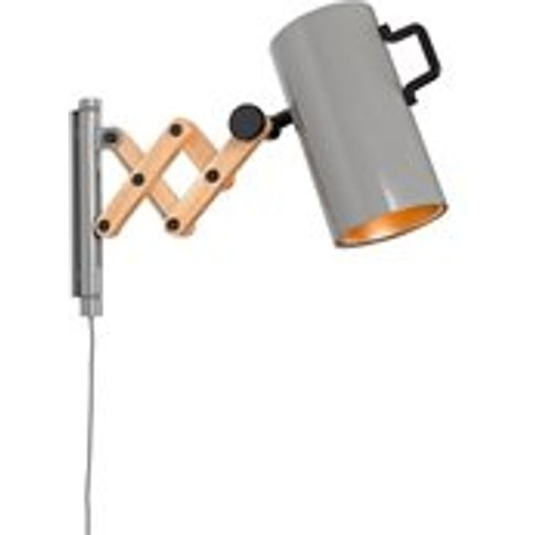 Zuiver Flex Extendable Arm Wall Light In Glossy Grey