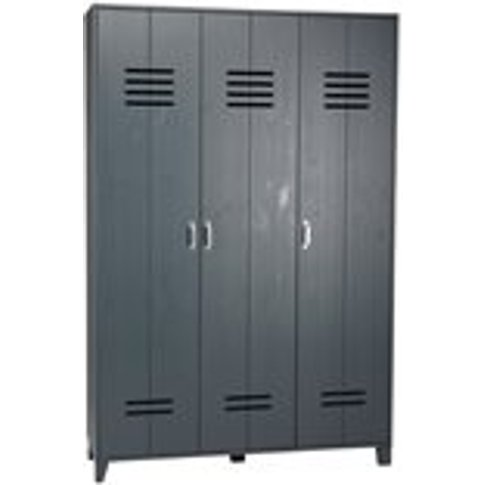 Kids Locker Style 3 Door Wardrobe In Granite Pine By...