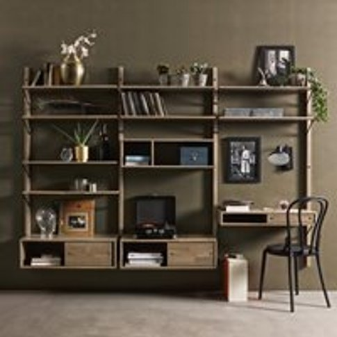Gyan Bespoke Wall Storage Unit by Woood - Double 2