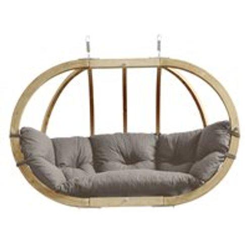 Globo Royal Garden Hanging Chair in Weatherproof Taupe