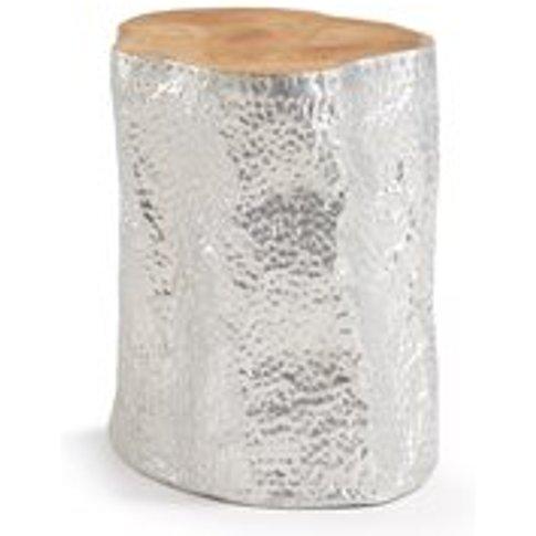 Hoko Aluminium Plated Teak Side Table