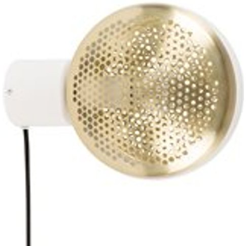 Zuiver Gringo Wall Light In White & Brass