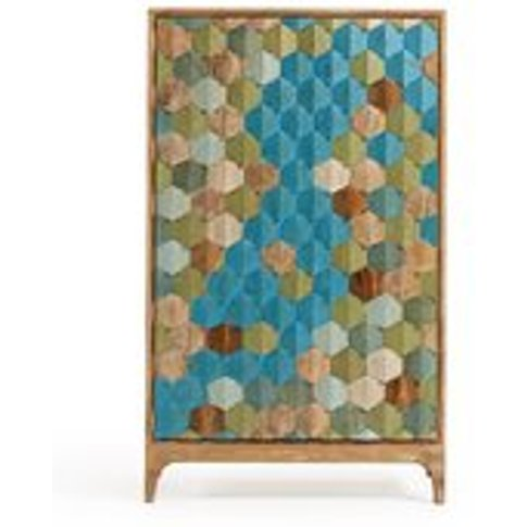 Ilka Wooden Cabinet With Multicoloured Front