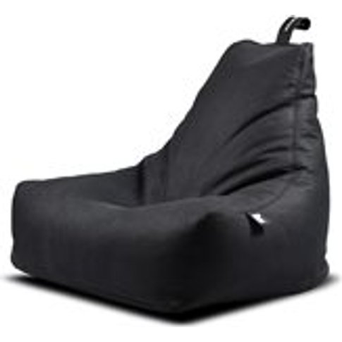 Extreme Lounging Mighty B Faux Leather Bean Bag In Charcoal