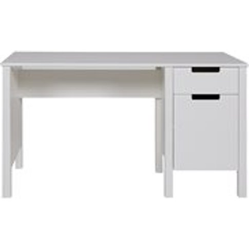 Jade Desk In White By Woood - Seconds Clearance Stock