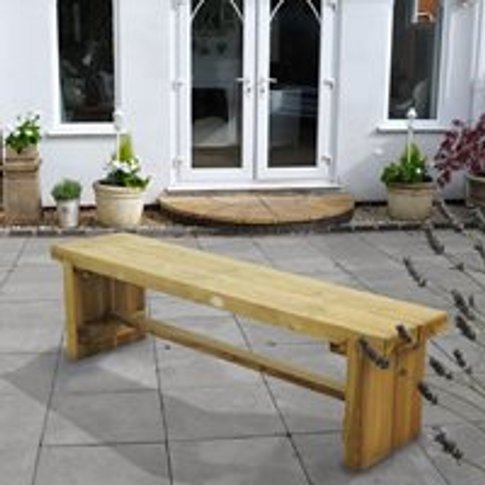 Forest Garden Double Sleeper Bench - 1.8m