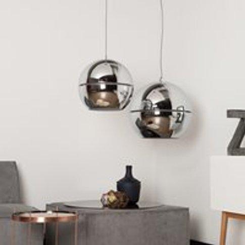 Zuiver Retro Ceiling Light In Metallic Chrome - Medium