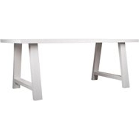 Zuiver A-Framed Dining Table In White - Small