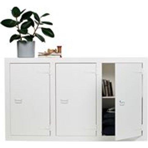 Bunk White Pine Storage Cabinet by Woood
