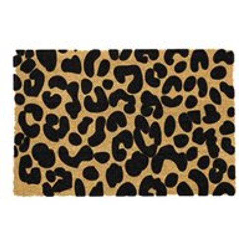 Artsy Doormats Leopard Print Door Mat - Grey
