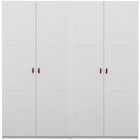 Lifetime Customisable 4 Door Wardrobe - Lifetime White
