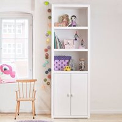 Lifetime Customisable Bookcase in White - 2 Compartm...