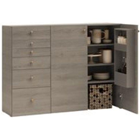Vox Lori Sideboard With Built In Storage In Oak Grey
