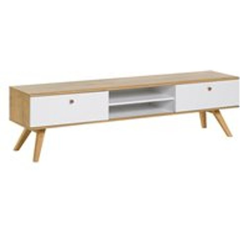 Vox Nature Wooden Tv Stand In White & Oak Effect