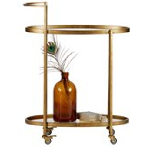 Push Drinks Trolley in Antique Brass by BePureHome