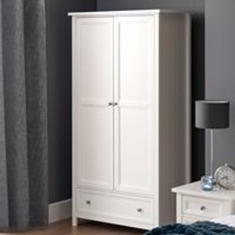 Julian Bowen Maine Double Wardrobe - Dove Grey
