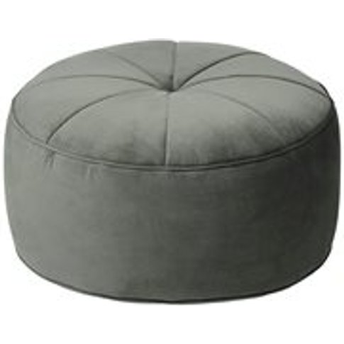 Cozy Living Marocco Large Velvet Pouffe In Army Green