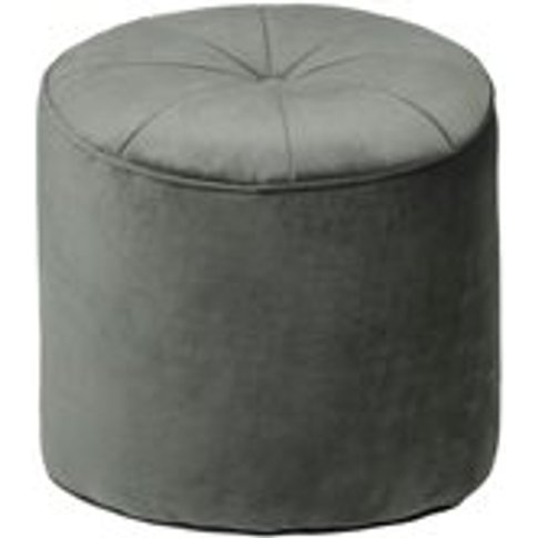 Cozy Living Marocco Small Velvet Pouffe in Army Green