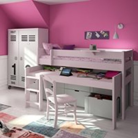 Mathy By Bols Dominique Mid Sleeper Bed With Desk & ...