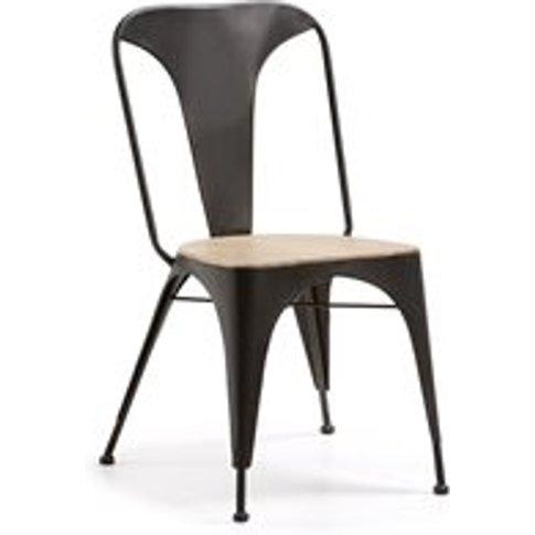 Vita Dining Chair in Graphite & Acacia
