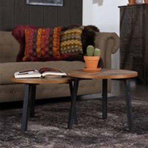 Dutchbone Set of 2 Mundu Coffee Tables in Recycled Teak