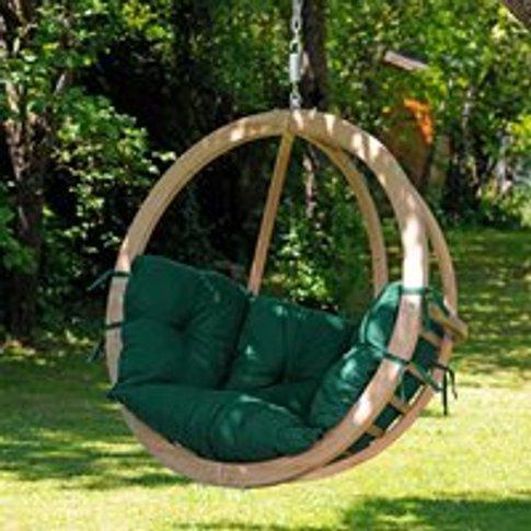 Globo Garden Hanging Chair in Weatherproof Green