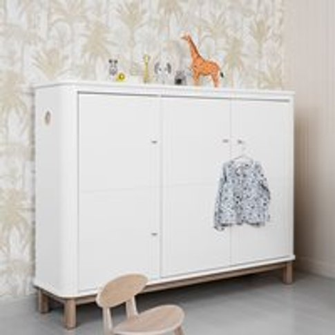 Oliver Furniture Wood Multi Storage Cupboard In Whit...