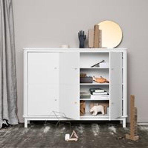 Oliver Furniture Wood Multi Storage Cupboard in White