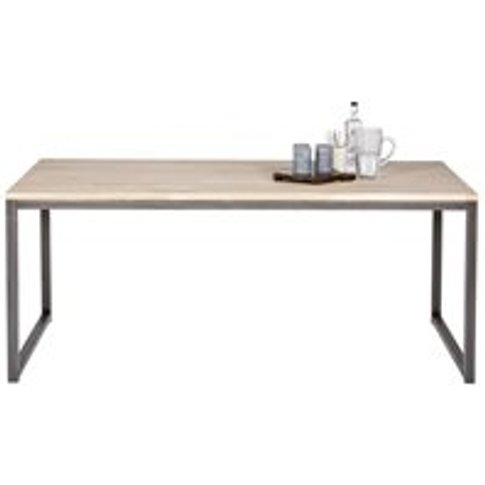 Olivia Oak Dining Table With Metal Legs By Woood - 1...