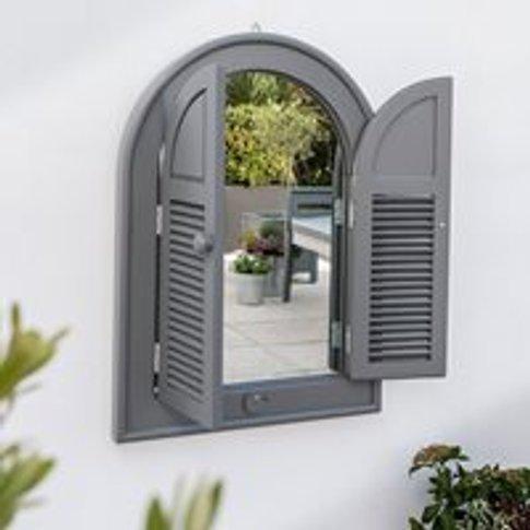 Grigio Outdoor Arch Mirror