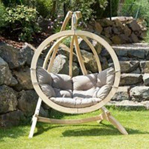 Globo Garden Hanging Chair & Stand in Weatherproof T...